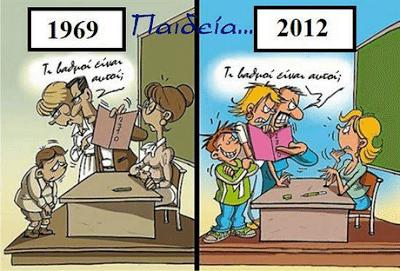 Η παιδεία κάποτε και τώρα