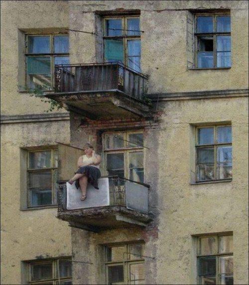 Το πιο κουλό...Βγήκα λίγο στο μπαλκόνι να απολαύσω την θέα