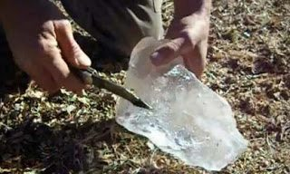 Πείραμα, πως να ανάψετε φωτιά από πάγο