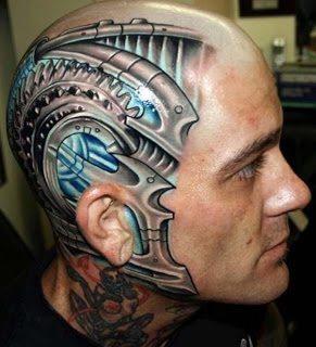 Απίστευτα τατουάζ σε κεφάλια