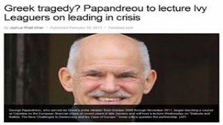 Αληθινή τραγωδία - Ο Παπανδρέου διδάσκει διακυβέρνηση κατά την διάρκεια κρίσης