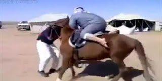Το πρώτο αποτυχημένο μάθημα ιππασίας ενός Σαουδάραβα
