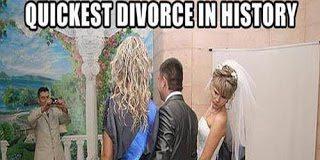Αυτός ο γάμος δεν κράτησε ούτε για μισή ώρα