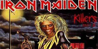 Νανά Καραγιάννη και η σατιρική αφίσα (iron maiden)