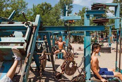 Το πιο σκληρό υπαίθριο γυμναστήριο της Ουκρανίας