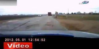 Γυναίκα φάντασμα σε δρόμο της Ρωσίας
