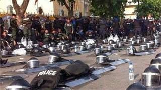 Η απίστευτη αντίδραση αστυνομικών στην Ταϊλάνδη σε διαδήλωση