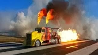 Απίστευτο! Φορτηγό πιάνει 378 χλμ την ώρα (video)