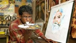 Απίστευτο video -  Ζωγραφίζει πίνακες με την γλώσσα