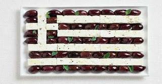 Εθνικές σημαίες φτιαγμένες από τα παραδοσιακά τρόφιμα