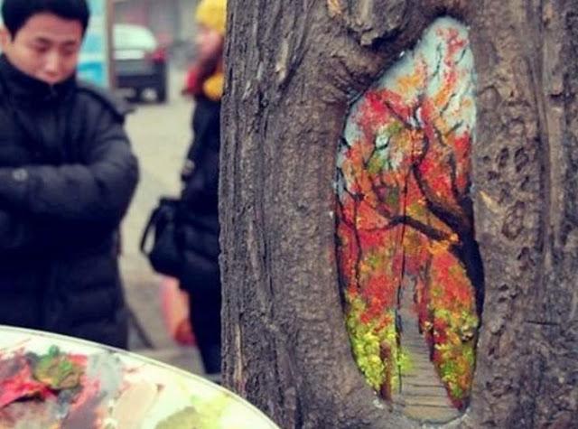 ζωγραφίζει τις τρύπες δέντρων4