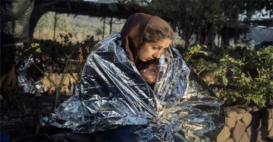 μια μητέρα πρόσφυγας