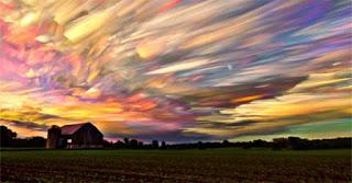 Ουρανοί που μοιάζουν με πίνακα ζωγραφικής